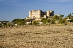 Castle In La Mancha Stock Photos