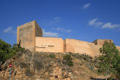 Castle La Mola of Novelda, Alicante, Spain Royalty Free Stock Photo