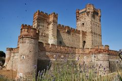 Castle of La Mota Stock Image