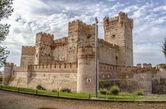 Castle of La Mota. From the village of Medina del Campo in the province of Valladolid Spain on a cloudy day Stock Photo