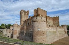 Castle of La Mota. From the village of Medina del Campo in the province of Valladolid Spain on a cloudy day Royalty Free Stock Photo