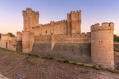 The castle of La Mota is a castle that is located in the town of Medina del Campo, province of Valladolid, Spain royalty free stock image