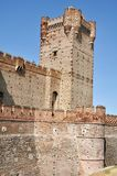 Castle of La Mota Tower (Vertical) Royalty Free Stock Photo