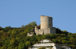 Castle of La Roche Guyon Stock Images