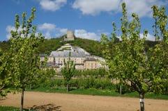 The castle of La Roche Guyon Royalty Free Stock Photo