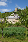 The castle of La Roche Guyon Royalty Free Stock Images