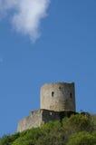 The castle of La Roche Guyon Stock Image