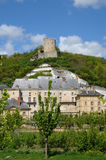 The castle of La Roche Guyon Royalty Free Stock Photos