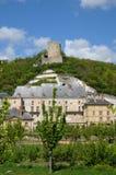 The castle of La Roche Guyon Royalty Free Stock Photos