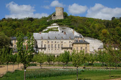 The castle of La Roche Guyon Royalty Free Stock Photo