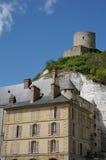 The castle of La Roche Guyon Royalty Free Stock Photography
