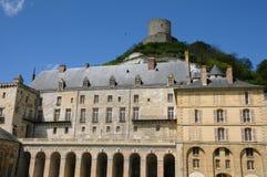 The castle of La Roche Guyon Stock Images