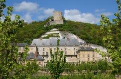 The castle of La Roche Guyon Stock Photography