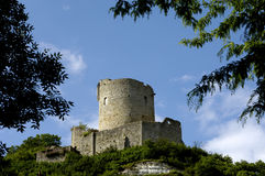 Castle of La Roche Guyon. France, castle of La Roche Guyon, horizontal picture Royalty Free Stock Images