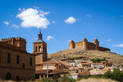 Castle  Lacalaora, Granada, Andalusia, Spain Stock Images