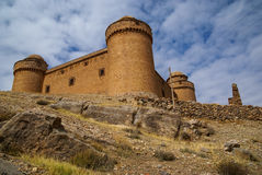 Castle  Lacalaora, Granada, Andalusia, Spain Stock Photos