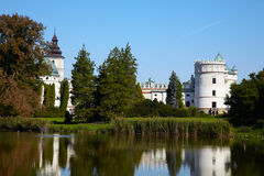 Castle on the lake Stock Photography