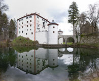 Castle with lake Stock Photo