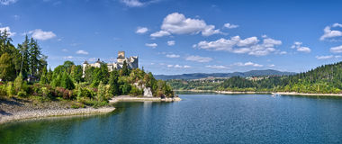Castle on the lake Royalty Free Stock Image