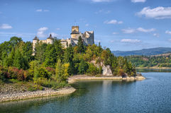 Castle on the lake Royalty Free Stock Images