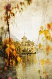 Castle beside lake Royalty Free Stock Photography