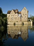 Castle at a lake stock photos