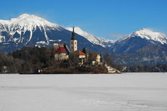 Castle and lake Bled Royalty Free Stock Image