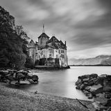 A castle in the lake at Chillon, Swiss