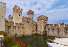 Castle on Lake Garda in Sirmione Italy Royalty Free Stock Image