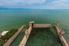 Castle on Lake Garda in Sirmione Italy Royalty Free Stock Photos