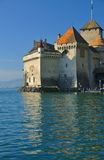 Castle on lake geneva Stock Photo