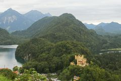 Castle and Lake Stock Photos