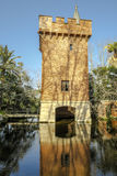 Castle of the lake,  in Park Can Soley Badalona Barcelona, Spain Royalty Free Stock Photo