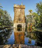 Castle of the lake,  in Park Can Soley Badalona Barcelona, Spain Stock Photo