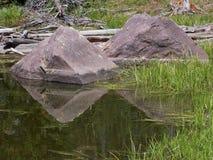 Castle Lake Pond Reflection Stock Photo