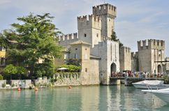 Castle on a lake Royalty Free Stock Photo