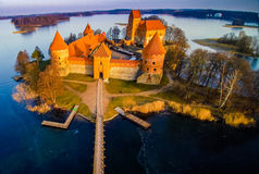 Castle and lake Stock Image