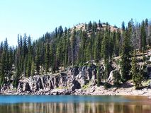 Castle Lake Royalty Free Stock Photos