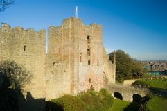 The castle and landscape. Ludlow castle Stock Photography