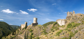 Castle of Lastours 5. Ruins of Lastours castles in a sunny summer afternoon Stock Image