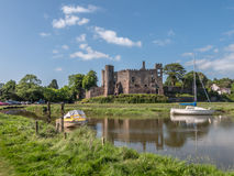 The Castle Laugharne Taf Estuary Wales Royalty Free Stock Photos
