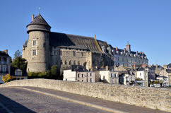 Castle of Laval in France Stock Photo