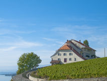 Castle in Lavaux vineyards, Switzerland Stock Photos