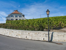 Castle in Lavaux vineyards, Switzerland Royalty Free Stock Photography