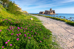 Castle of Le Castella, Calabria (Italy) Royalty Free Stock Photos