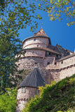 Castle Le Haut-Koeningsbourg seen from the access road. Royalty Free Stock Image