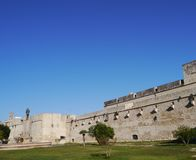 Castle of Lecce opposite a blue sky Royalty Free Stock Image