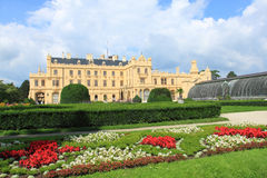Castle Lednice. In Moravia, Czech Republic. Historical Greenhouse Stock Photos