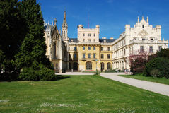 Castle lednice. (czech republic) is one of the most beautiful castles in this country Royalty Free Stock Photography