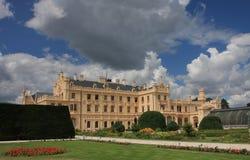 Castle Lednice with gardens  in Czech Republic in Europe, Unesco Stock Photos